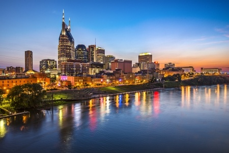 23399665 - skyline of downtown nashville, tennessee.
