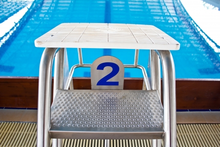 15122382 - starting platforms with numbers for swimming races